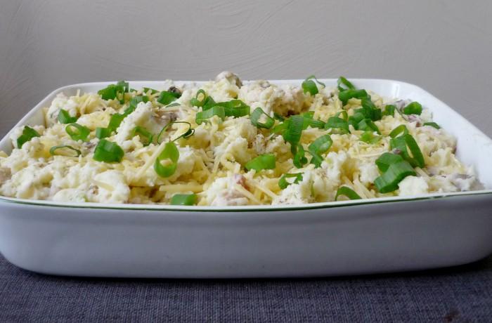 Aardappelschotel met kipfilet uit de oven