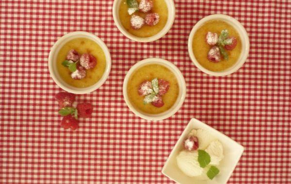 Crème brûlée met frambozen nagerecht voor 6 personen